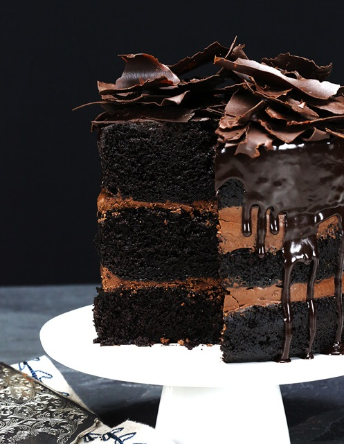 rustic chocolate cake