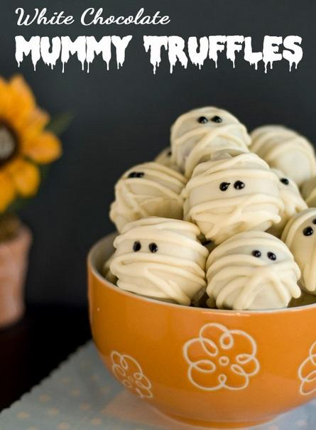 white choco mummy truffles