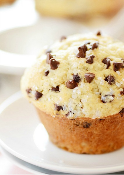 Bakery Style Choco Chip Muffins