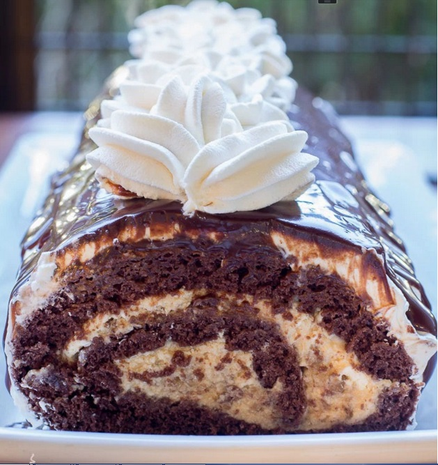 chocolate roll cake LTBB2