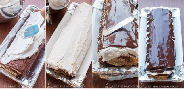 chocolate roll cake LTBB6