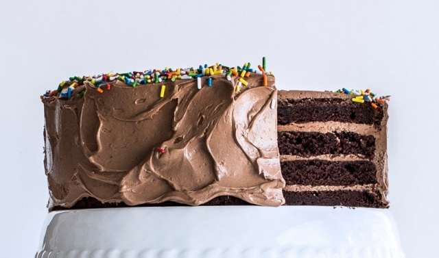 Four-Layer Chocolate Birthday Cake