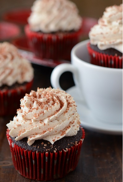 Mexican hot choco cupcakes
