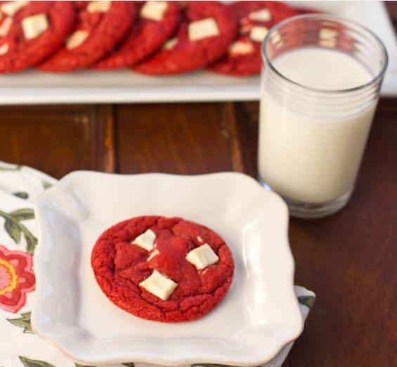 Red Velvet White Choco Chunk Cookies TSCCB