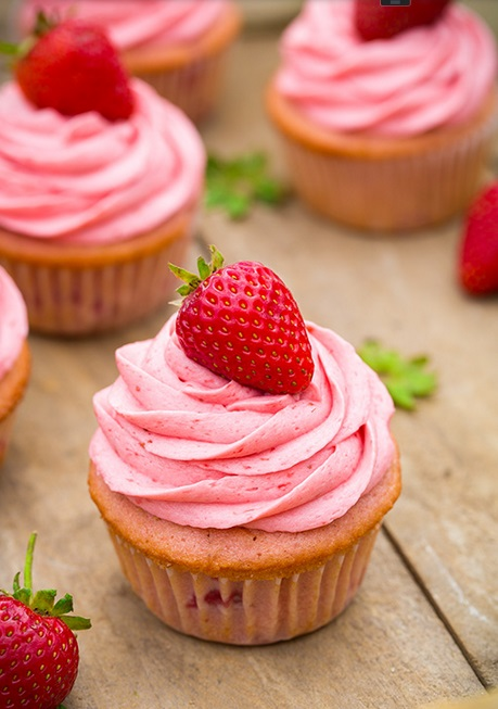 strawberry cupcakes CC