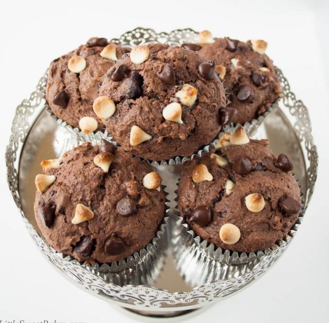 Triple choco Muffins
